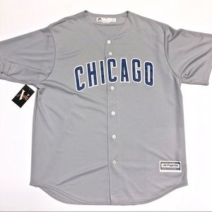 Chicago Cubs Gray Road Jersey Majestic MLB Jersey